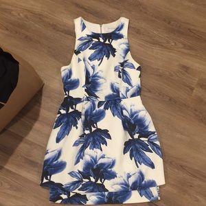 Keepsake Size S Blue/White Floral Dress